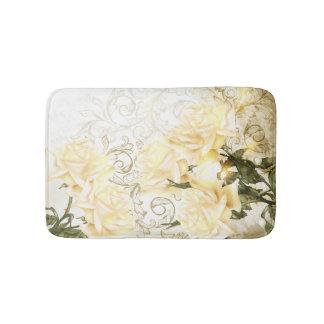 Artistic Yellow Roses Bath Mats