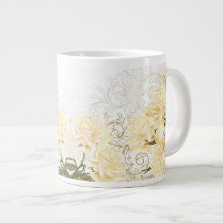 Artistic Yellow Roses Jumbo Mug