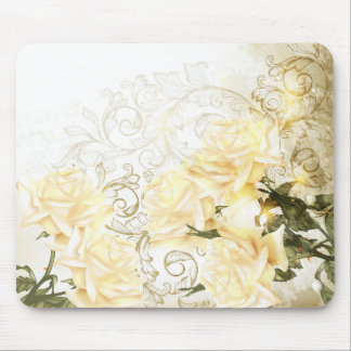 Artistic Yellow Roses Mouse Pad