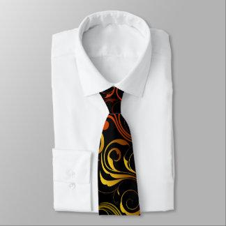 Artistic Yellow Swirls Tie