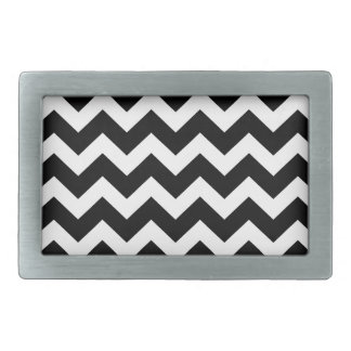 Artistic zigzag Black and white Belt Buckles