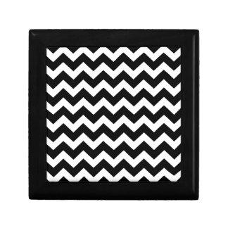 Artistic zigzag Black and white Gift Box