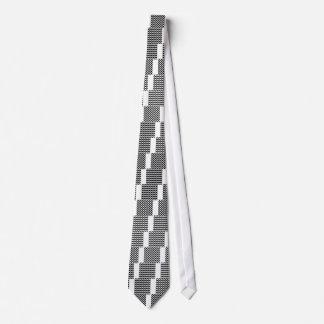Artistic zigzag Black and white Tie