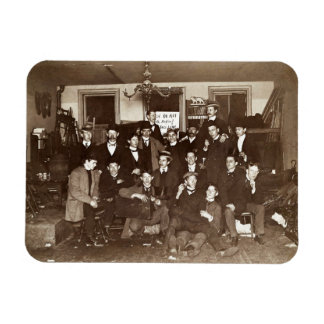 Artists and Friends of John French Sloan in Studio Rectangular Photo Magnet