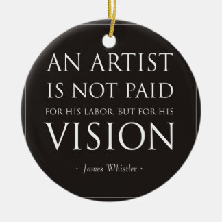 Artists Are Not Paid For Labor, But Vision Round Ceramic Decoration