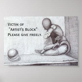 """Artist's Block"" Mini-Poster Poster"