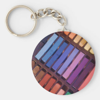 Artist's Color Pastels Basic Round Button Key Ring