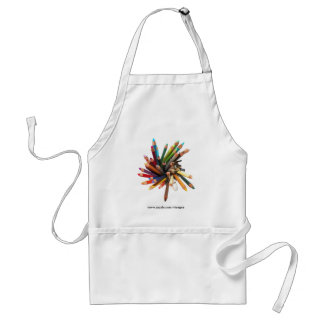 Artists Colored Oil Pencils Adult Apron