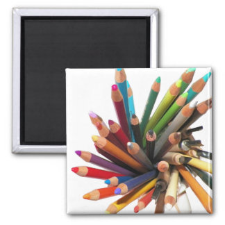 Artists Colored Oil Pencils Square Magnet