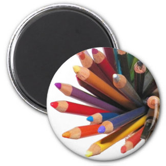 Artists Colored Oil Pencils 6 Cm Round Magnet