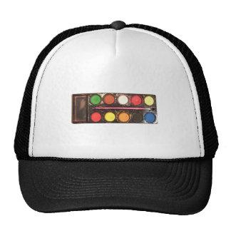 Artist's colorful paint color box hat