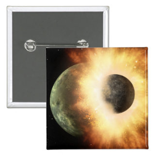 Artist's concept of a celestial body 15 cm square badge