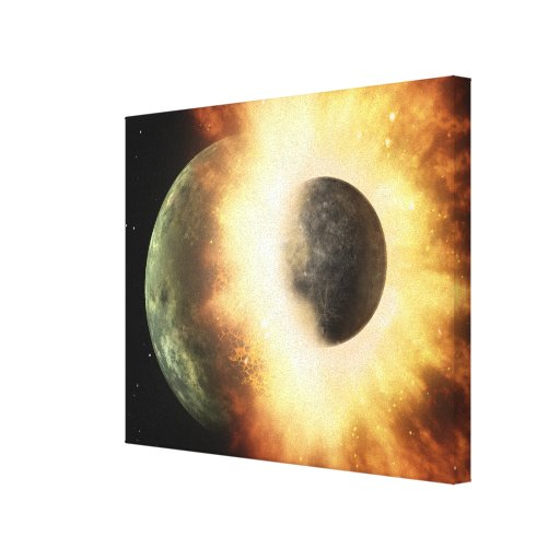 Artist's concept of a celestial body stretched canvas print