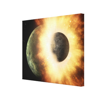 Artist's concept of a celestial body gallery wrapped canvas