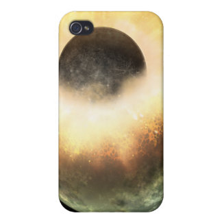 Artist's concept of a celestial body cover for iPhone 4