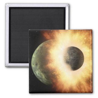 Artist's concept of a celestial body magnet