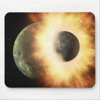 Artist's concept of a celestial body mouse pad