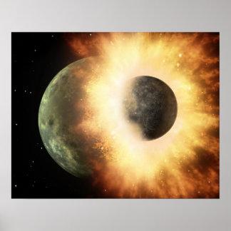 Artist's concept of a celestial body poster