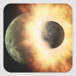 Artist's concept of a celestial body square sticker