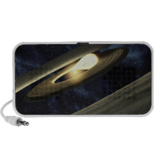 Artist's concept showing a lump of material iPhone speakers