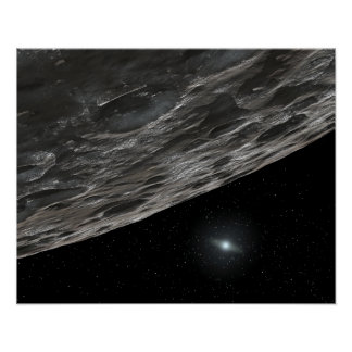 Artist's Conception of a Kuiper Belt Object Poster