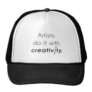 Artists do it with creativity cap