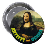 Artists for Obama: The New Mona Lisa 7.5 Cm Round Badge