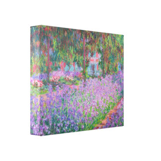 Artists Garden by Claude Monet Stretched Canvas Print
