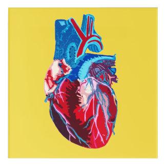 Artist's Heart Print Acrylic Wall Art
