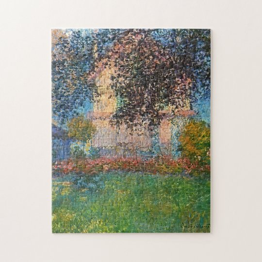 Artist's House in Argenteuil Monet Fine Art Jigsaw Puzzle