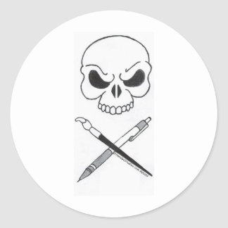 Artists' Jolly Roger Round Stickers