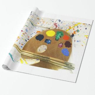 Artists Paint Splatter And Pallet of Paint