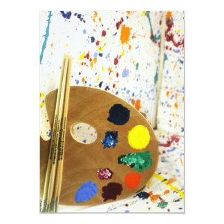 Artists Paint Splatter And Pallet of Paint Invitation