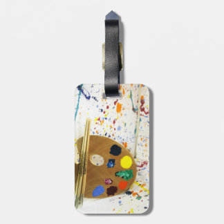 Artists Paint Splatter And Pallet of Paint Luggage Tag