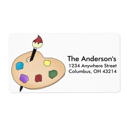 Artist's Palate Return Address Labels