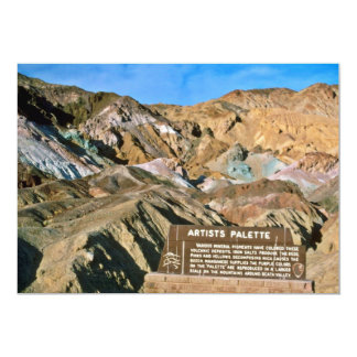 Artist's Palette 13 Cm X 18 Cm Invitation Card