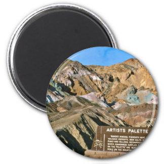 Artist's Palette 6 Cm Round Magnet