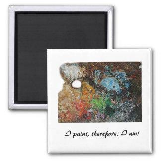Artist's Palette Square Magnet