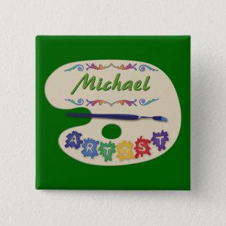 Artist's Pallet Name Badge