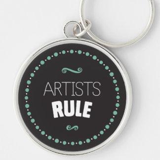 Artists Rule – Black Key Ring