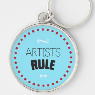 Artists Rule – Blue Key Ring