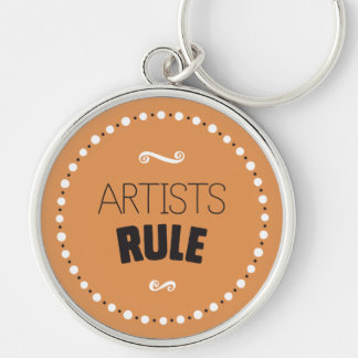 Artists Rule – Editable Background Key Ring