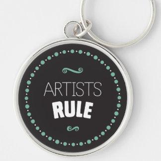 Artists Rule Keychain – Black