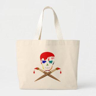 Artist's Skull & Crossbones Canvas Bags