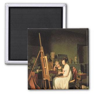 Artist's Studio Square Magnet