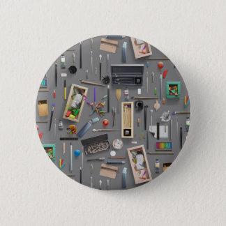 Artist's supplies 6 cm round badge