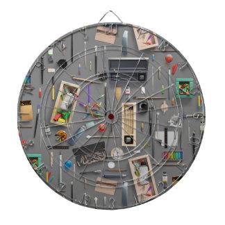 Artist's supplies dart boards