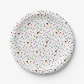 Artists tools paper plate