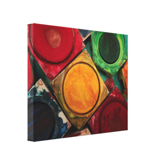 Artists Watercolor Paint Box Palette Gallery Wrapped Canvas