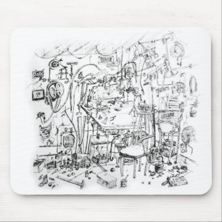 Artist's Work Bench | Gene Young Mouse Pad
